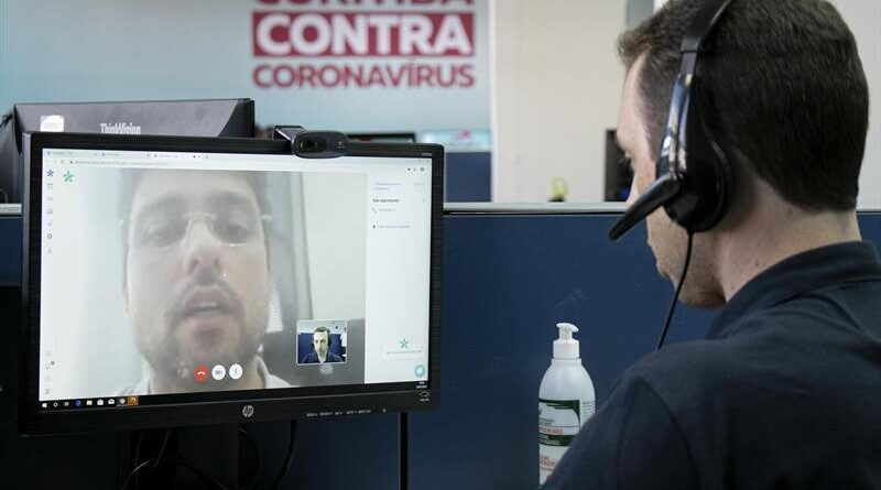 Videoconsulta para atender casos de coronavírus